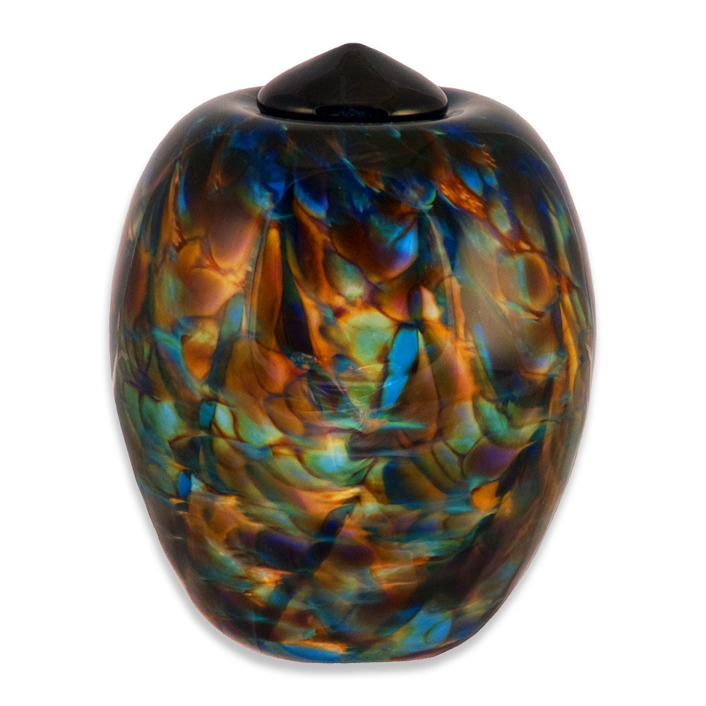 Classic Hand Blown Glass Urn - Evening