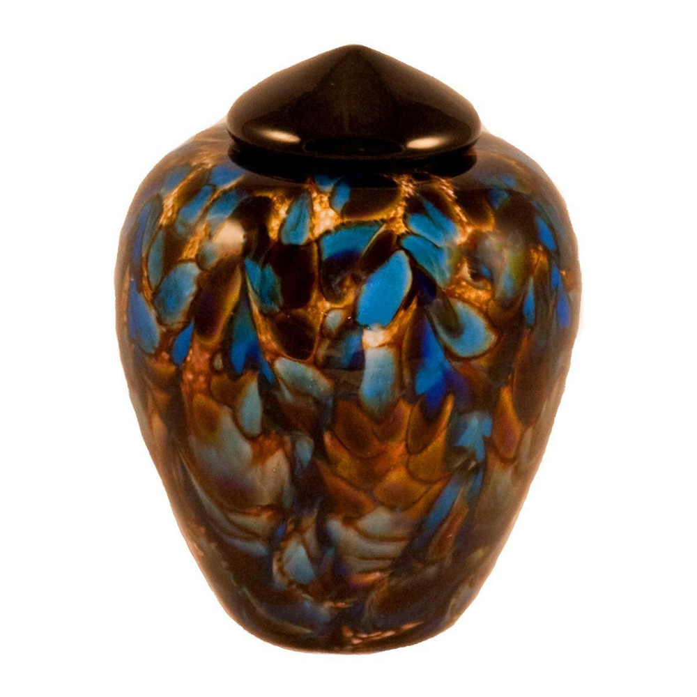 Classic Hand Blown Glass Urn - Evening - Small
