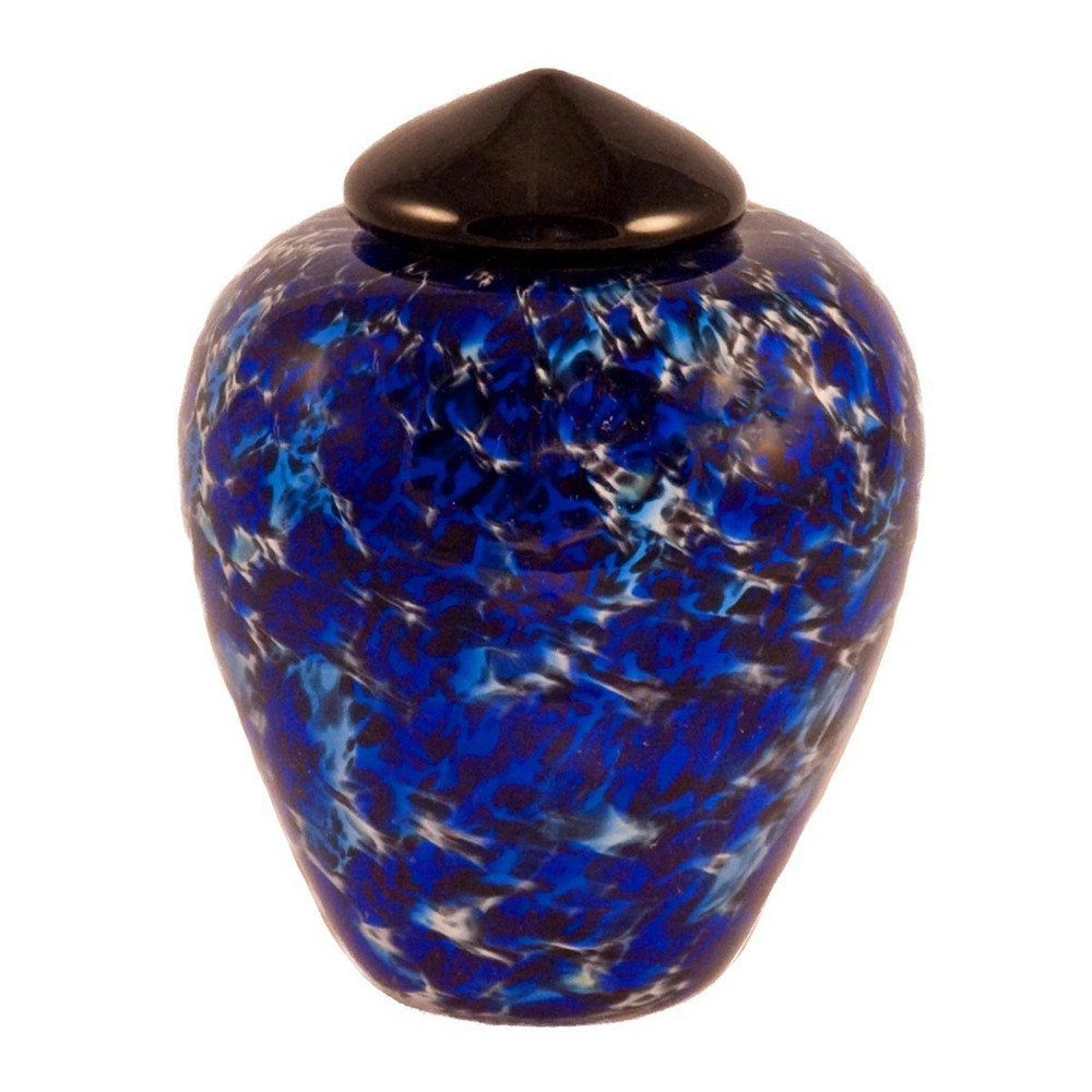 Classic Hand Blown Glass Urn - Water - Small