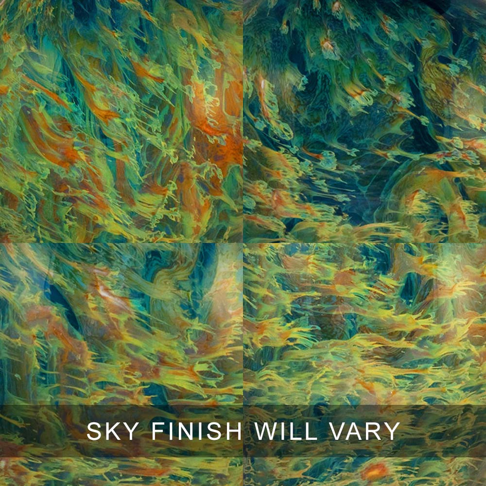 Sky Finish Swatches - Glass Cremation Urns Are 100% Unique