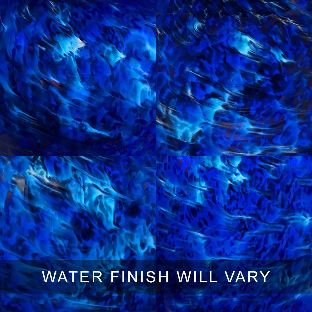 Water Finish Swatches - Glass Cremation Urns Are 100% Unique