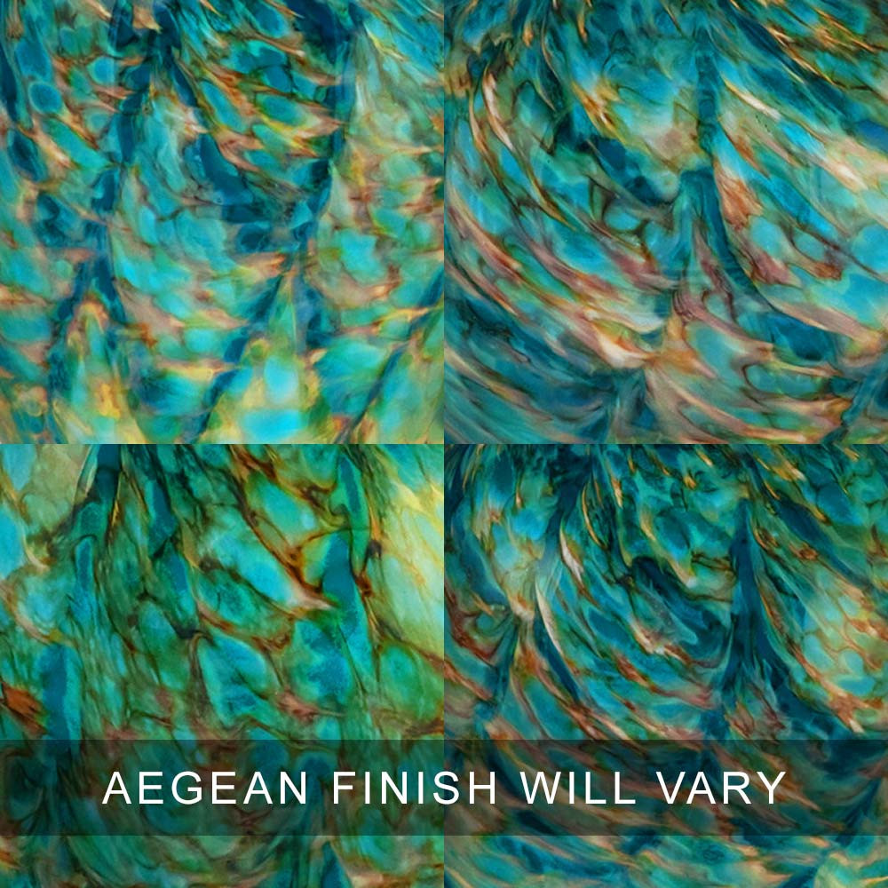 Aegean Finish Swatches - Glass Cremation Urns Are 100% Unique