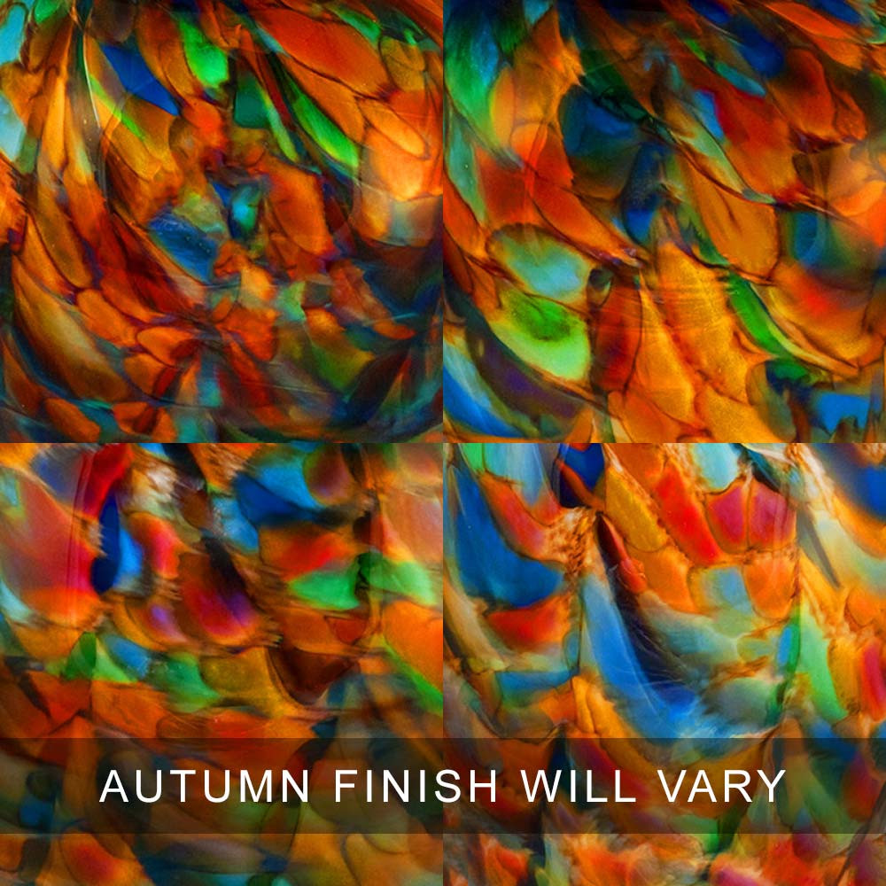 Autumn Finish Examples - Each Glass Cremation Urn Is 100% Unique