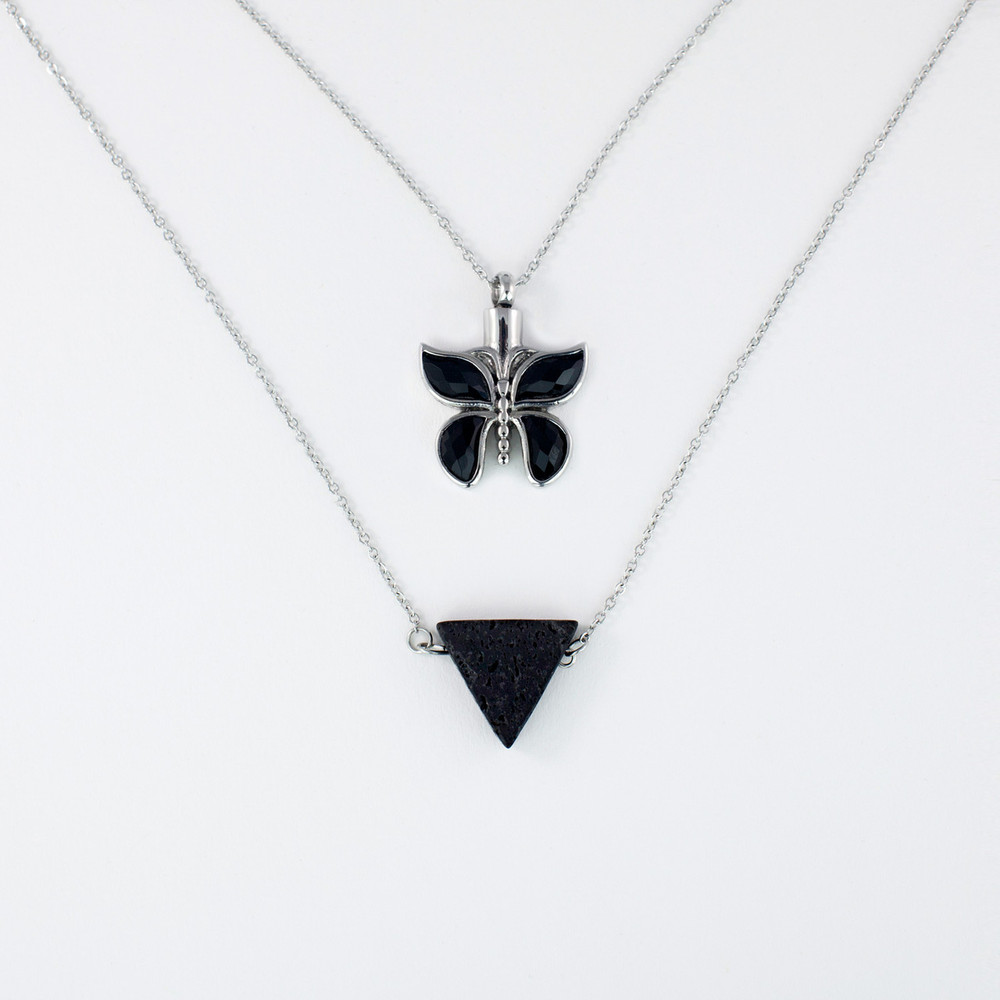 Butterfly Cremation Memorial Necklace
