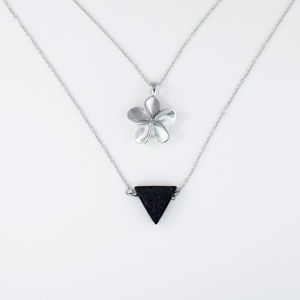 Memorial Jewelry - Flower Pendant - Holds a small amount of cremated remains