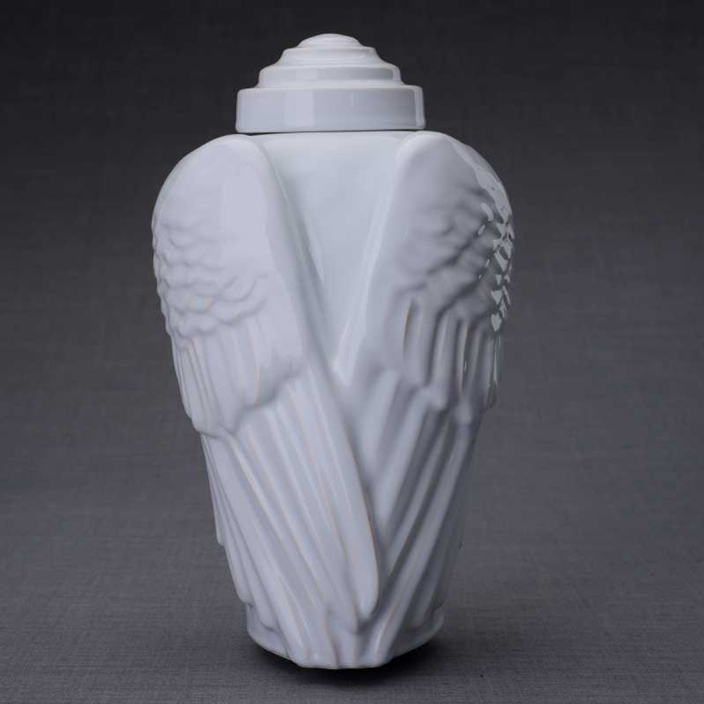 Angel Wings Sculpture Art Ceramic Cremation Urn