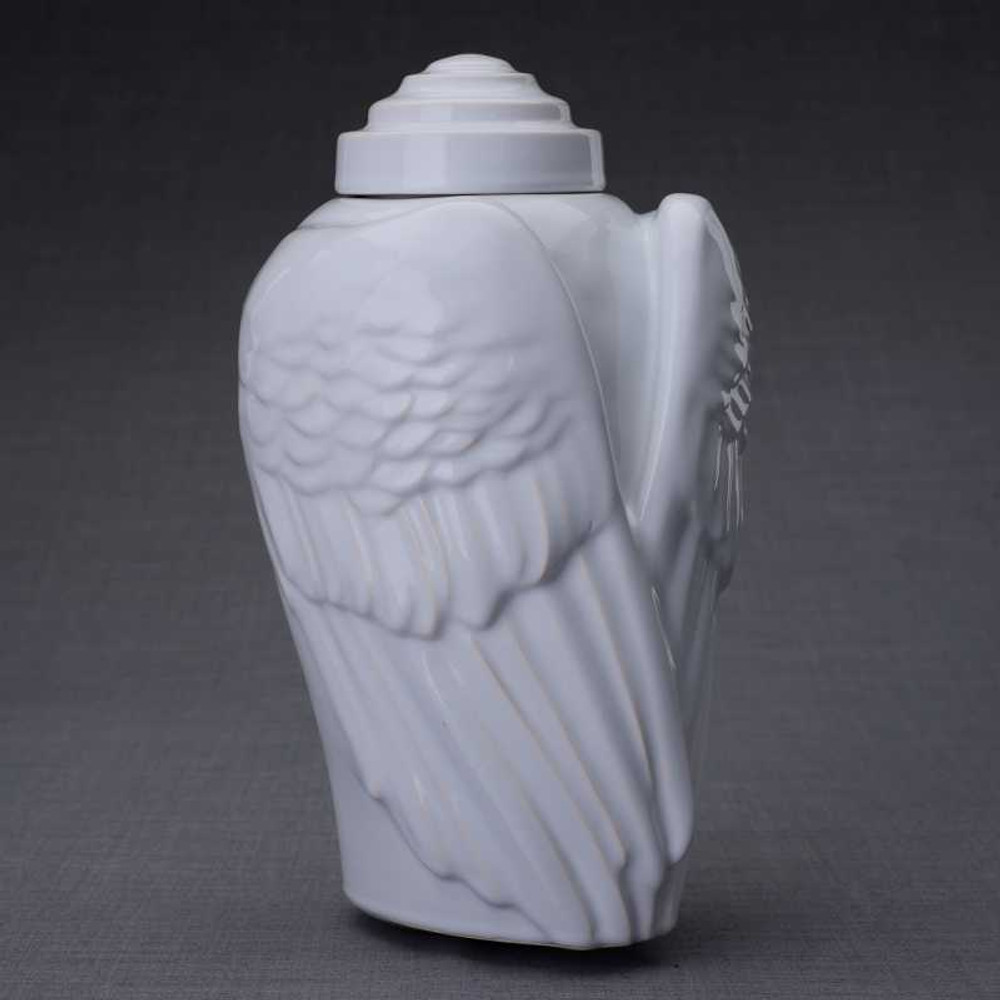 Gorgeous Angel Wing Ceramic Sculpture
