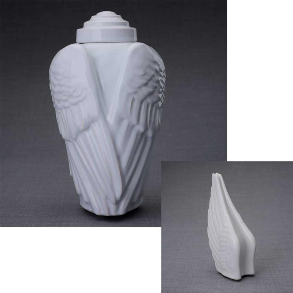 Angel Wings - Standard & Keepsake Urn Set