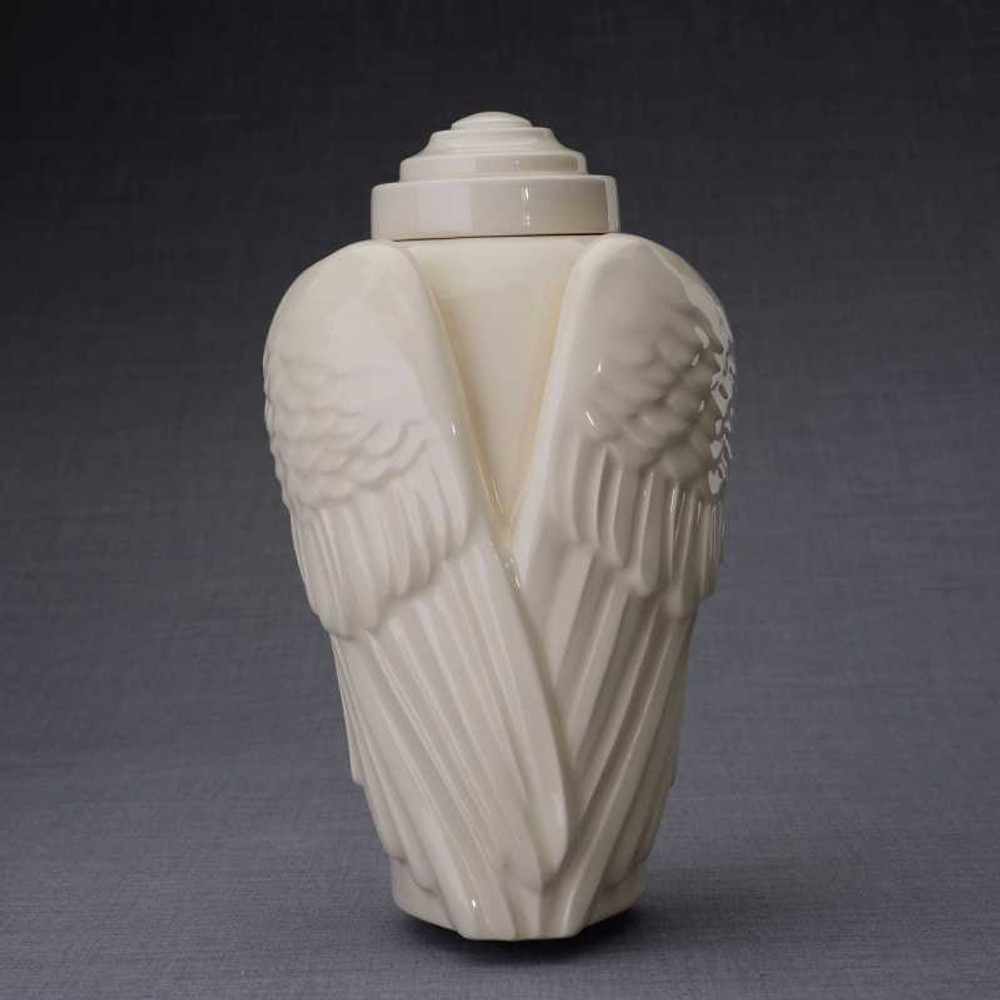 Angel Wings Ceramic Art Urn
