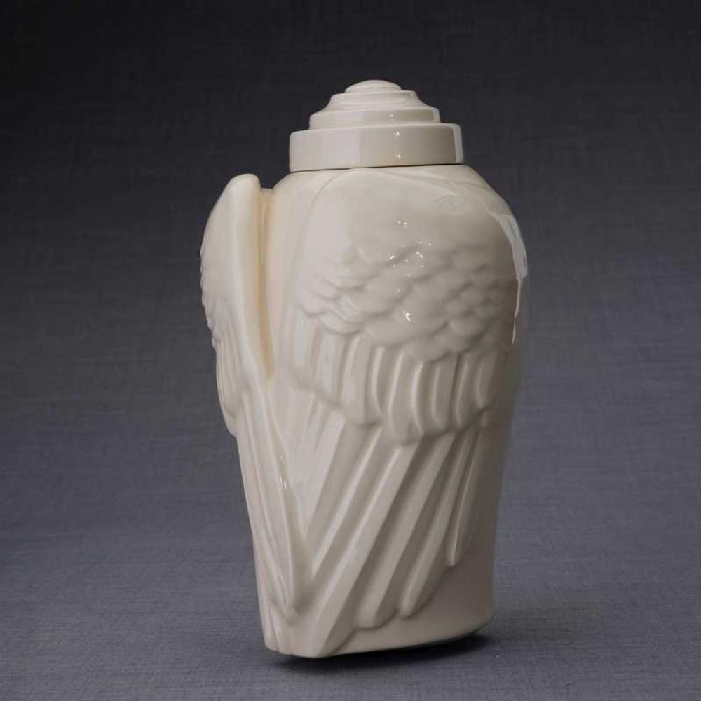 """Gorgeous ceramic urn in """"Transparent"""" finish"""
