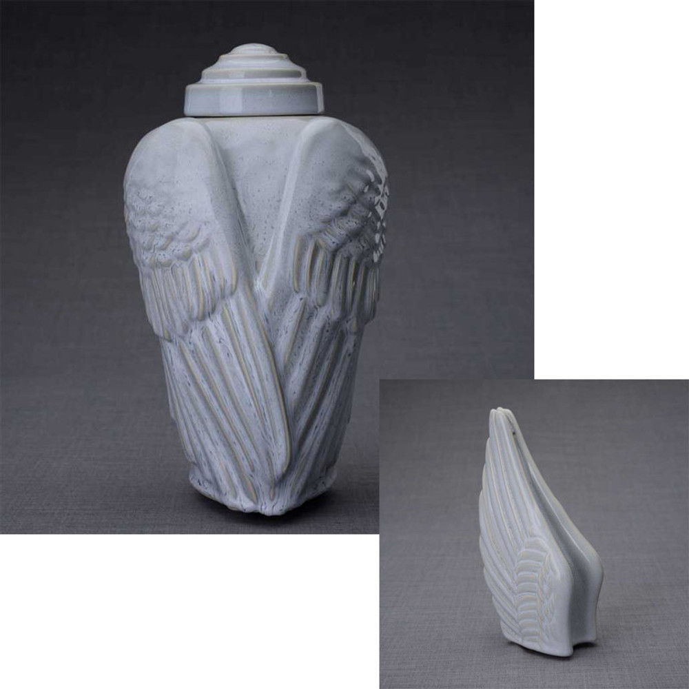 Optional Set with Sharing Keepsake Angel Wings Urn