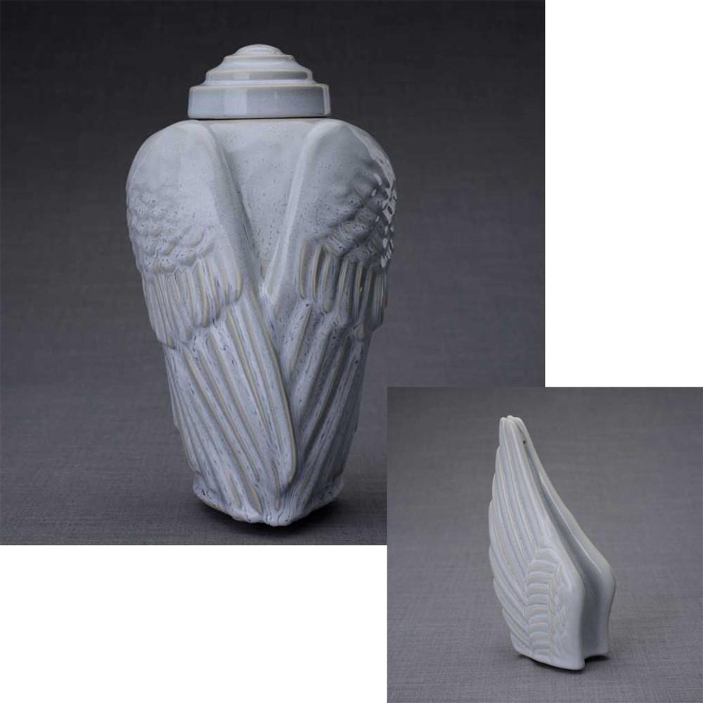 Optional Set with Sharing Keepsake Angel Wings Urn