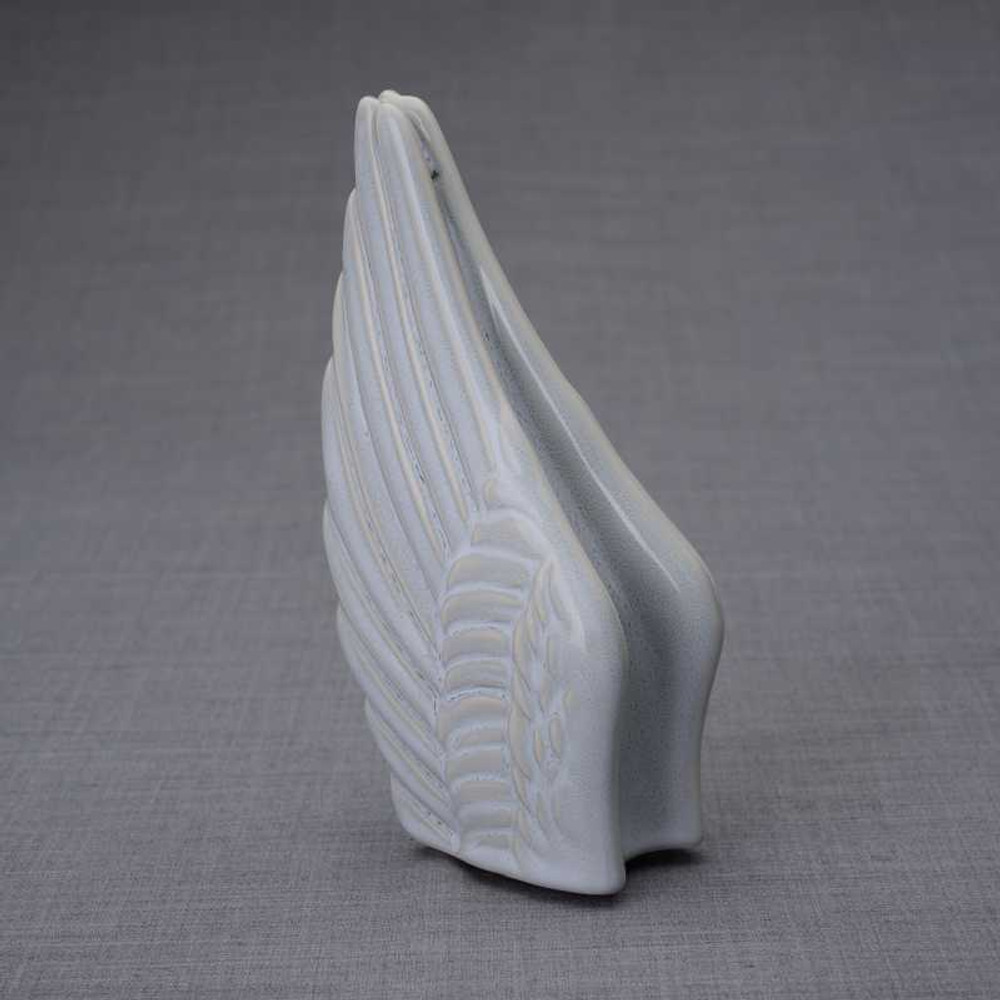 Small Angel Wings Sharing Keepsake Urn - Grey Melange