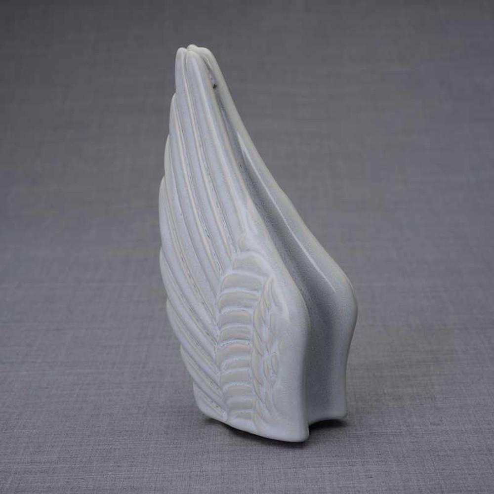 Small Angel Wings Sharing Keepsake Urn - Grey Melange