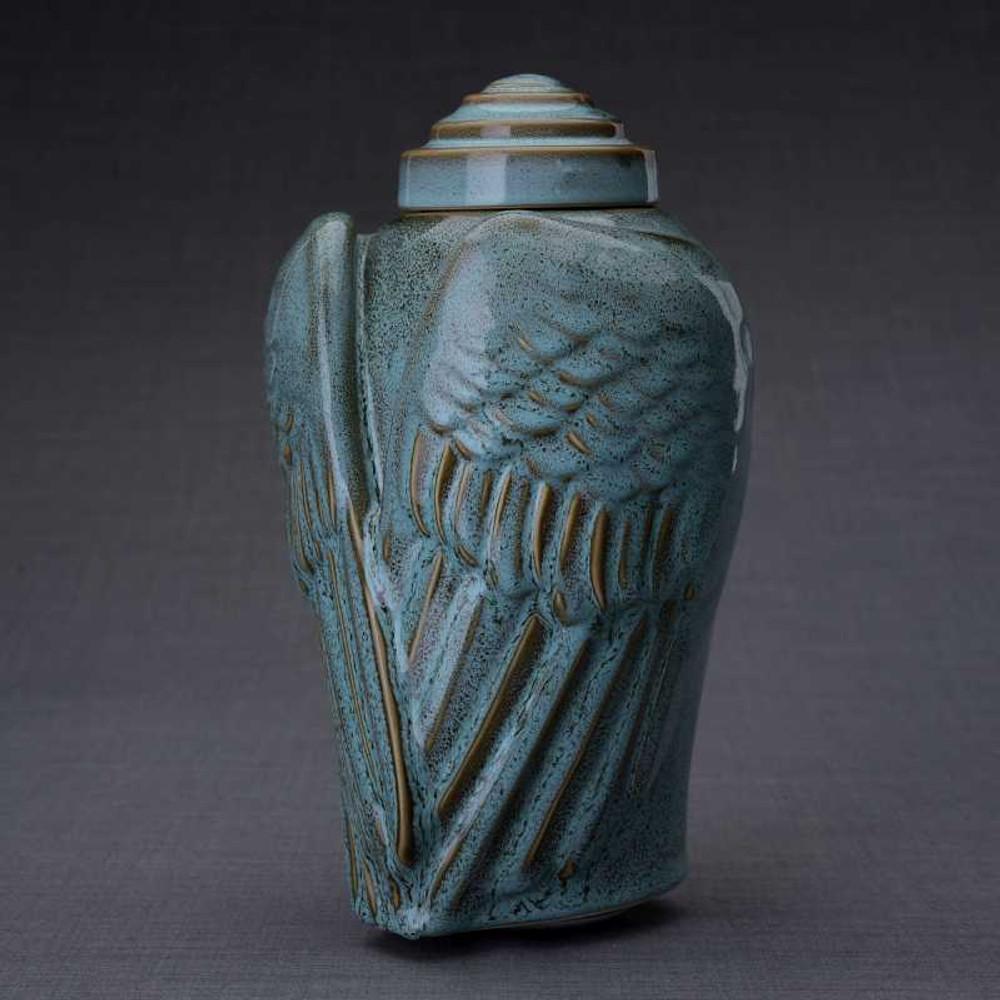 Angel Wings Ceramic Art Funeral Urn