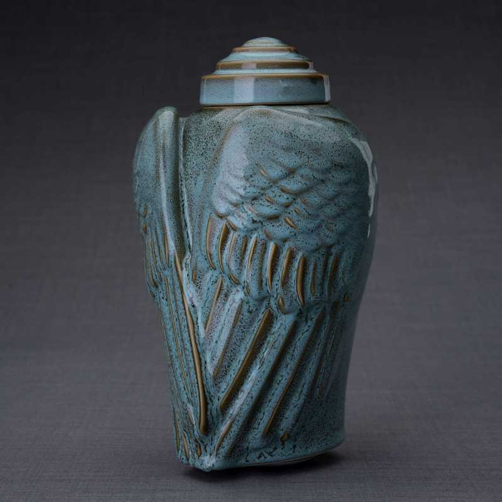 Angel Wings Ceramic Art Funeral Urn
