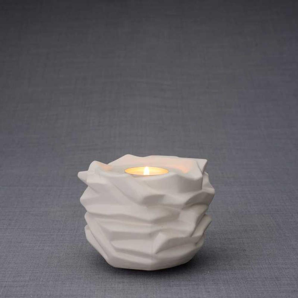 Radiance Tealight Candle Small Cremation Urn - Unglazed