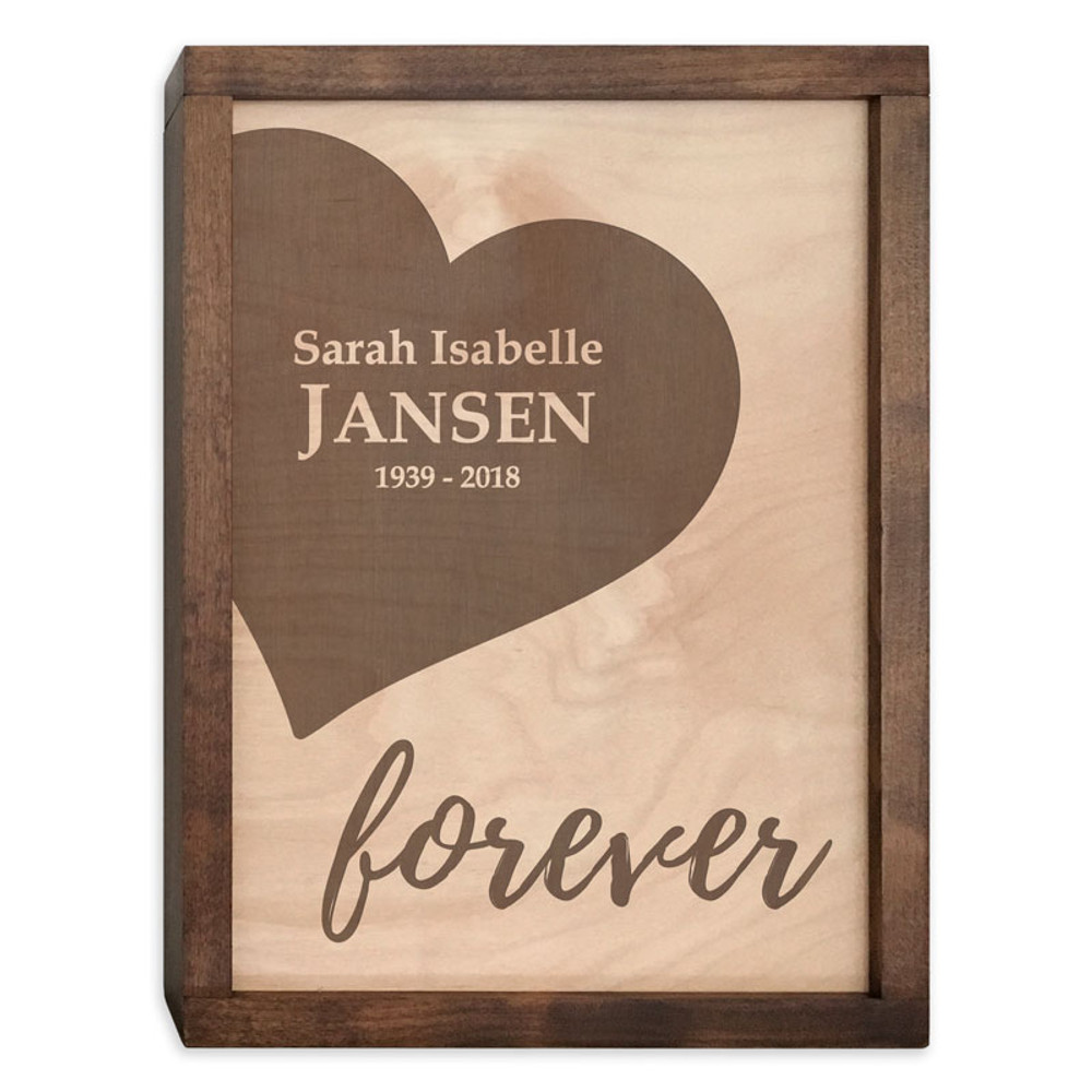 Together Forever - Urn 2 (RIGHT) - Personalized with Name and Dates