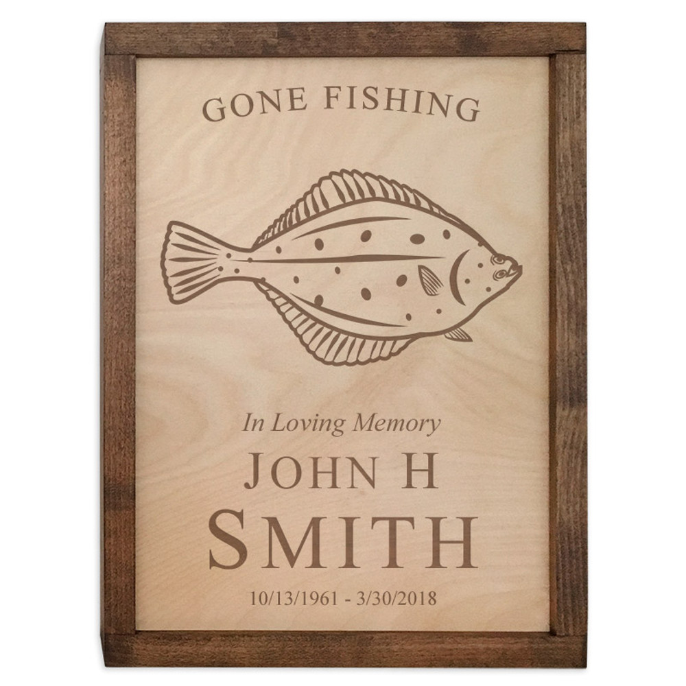 Halibut Fish Cremation Urn