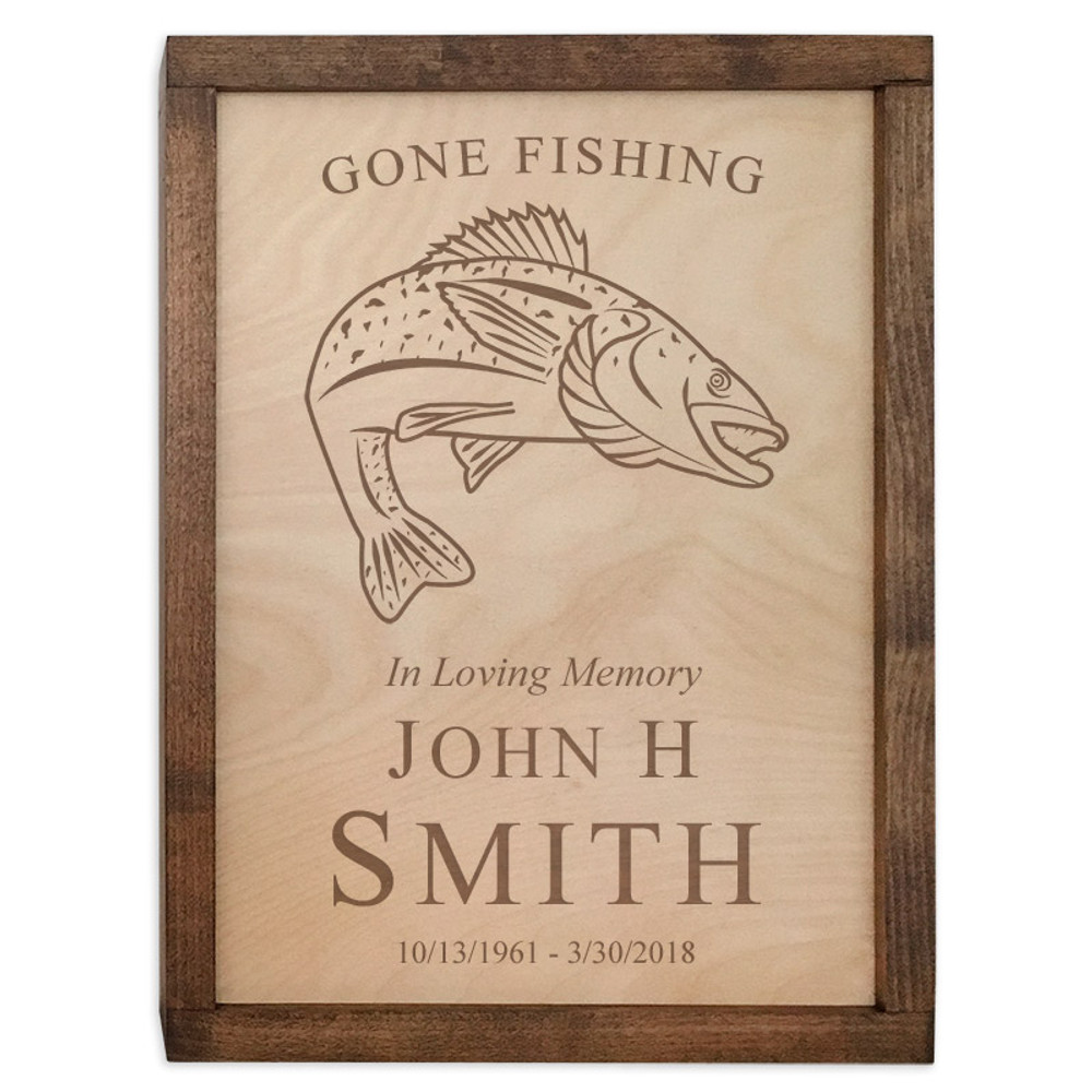 Walleye Fish Cremation Urn