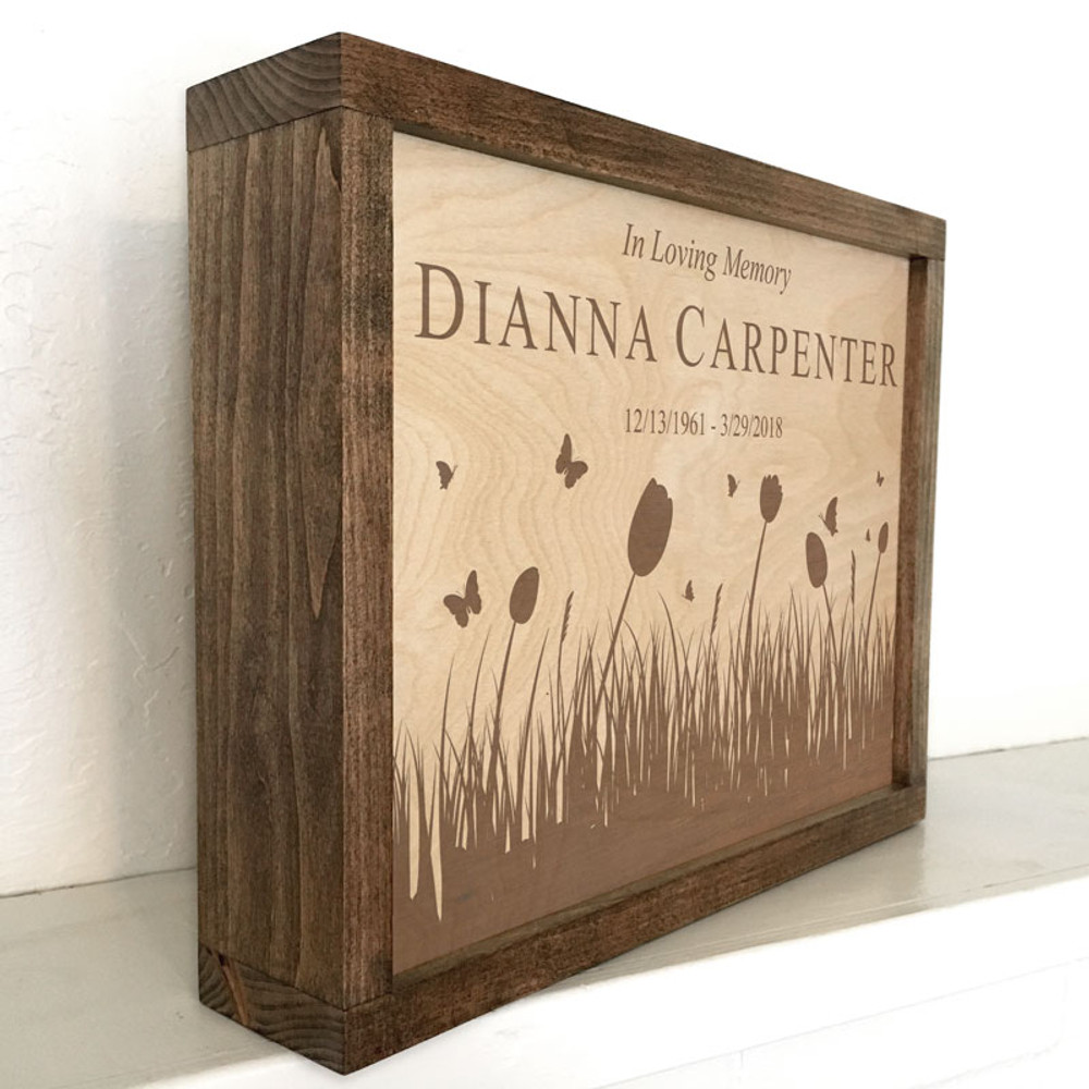 Plaque Cremation Urn - This urn can also rest on a shelf or mantle