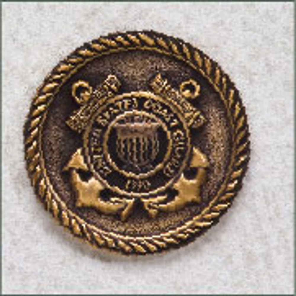Coast Guard Military Urn Medallion