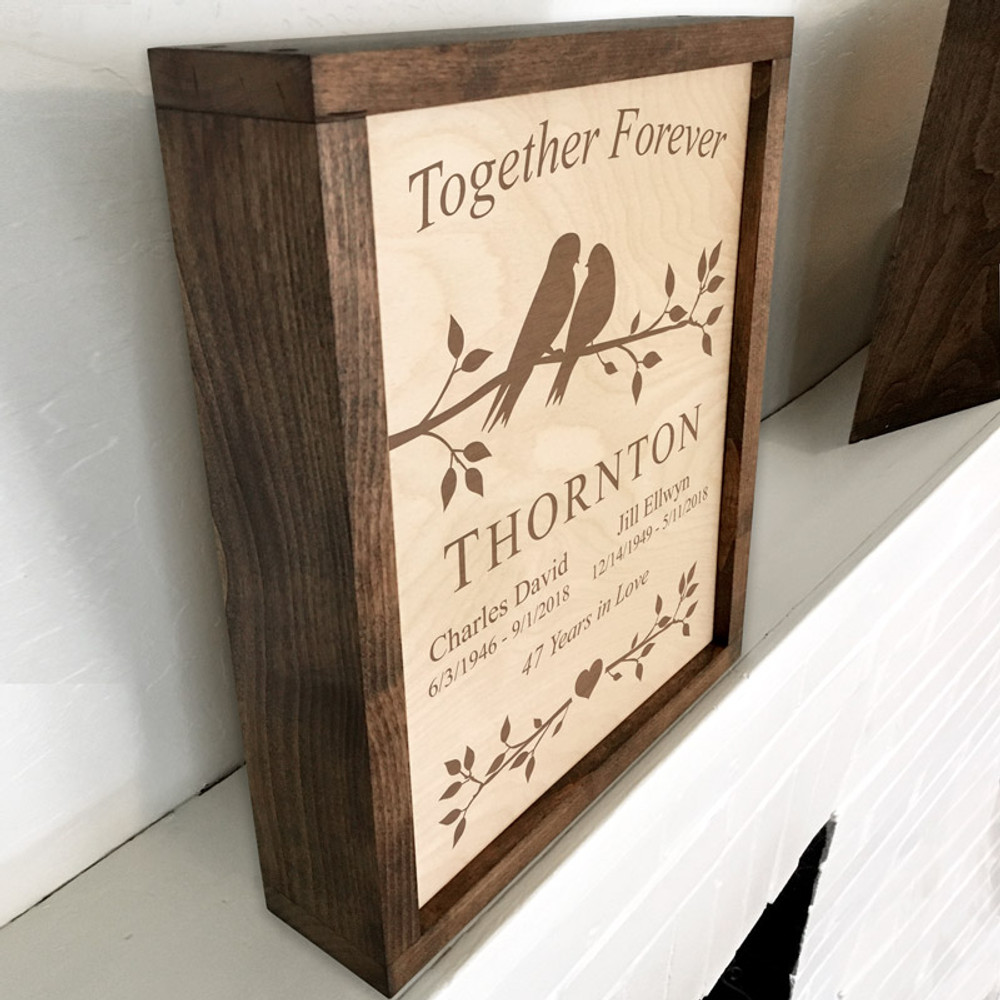 This plaque urn can be mounted on a wall or displayed on a shelf/mantle