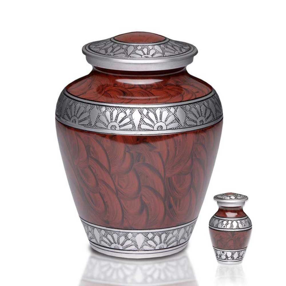 Metal Cremation Urn - Adult & Keepsake Urns