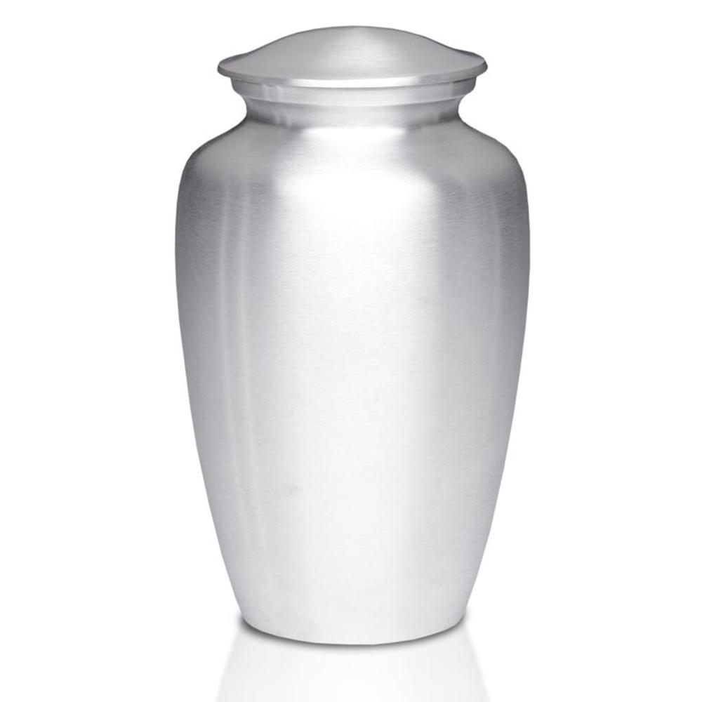 Timeless Metal Cremation Urn - Silver Color