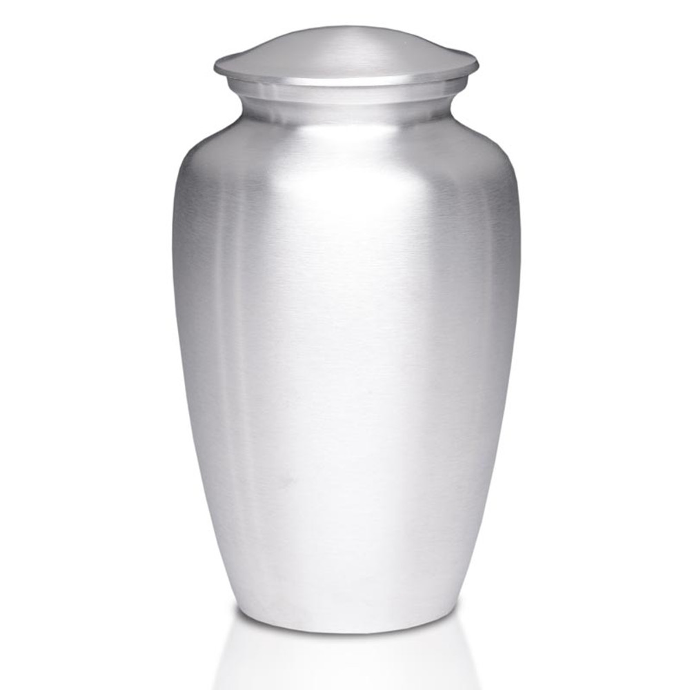 Timeless Metal Cremation Urn - Silver Color