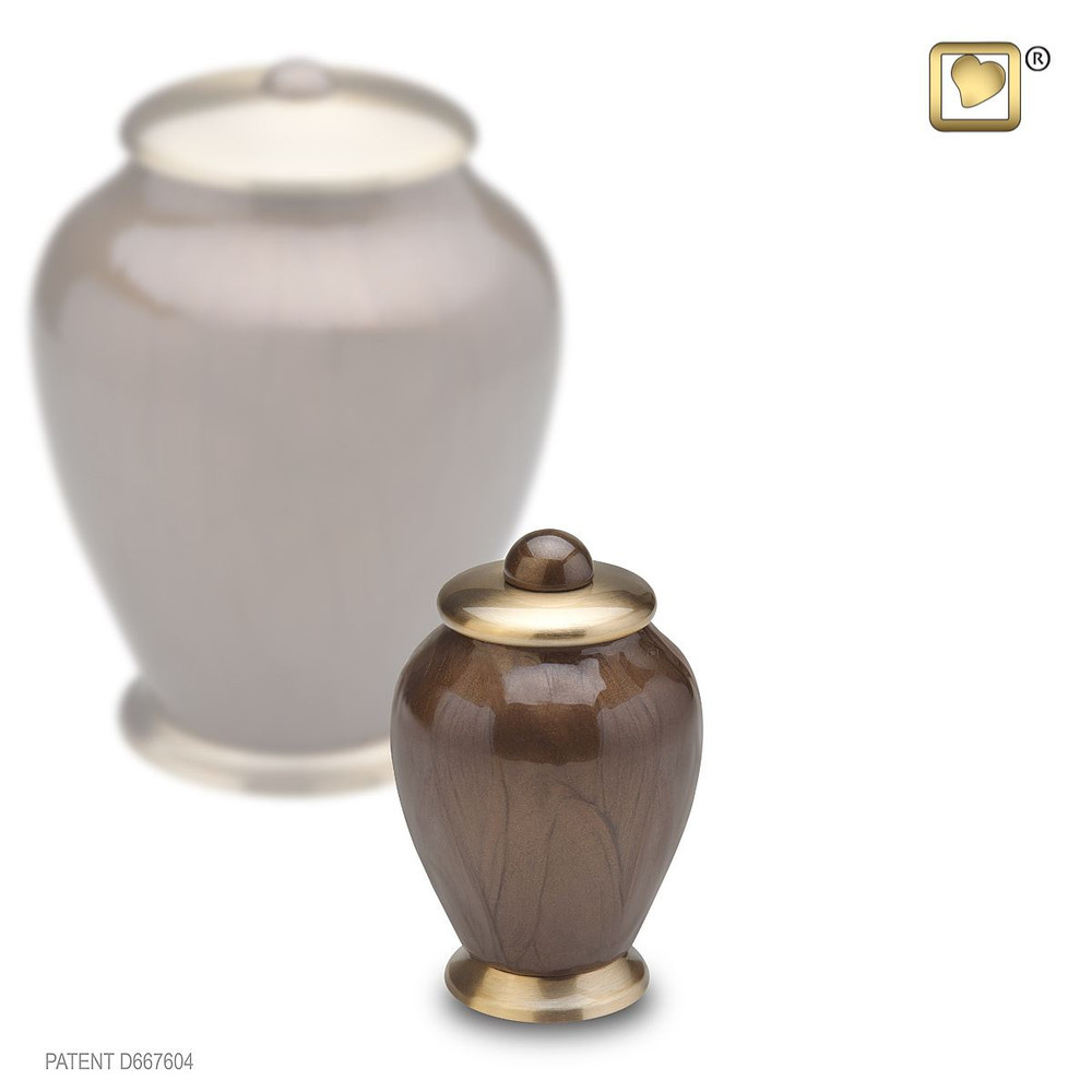 Simplicity Brass Cremation Urn - Small Keepsake - Bronze