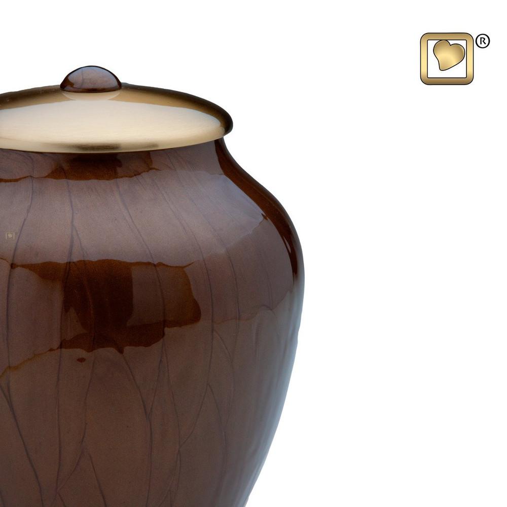 Simplicity Brass Cremation Urn - Detail