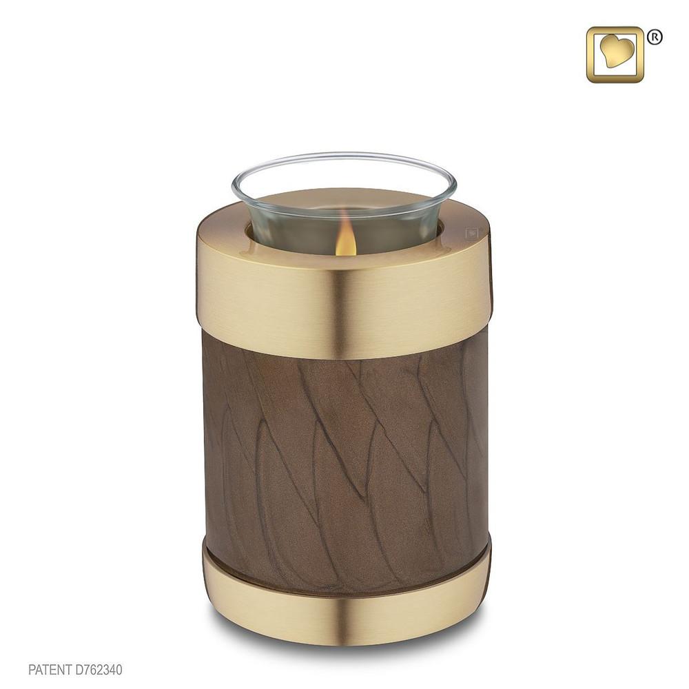 Simplicity Brass Cremation Urn - Tealight - Bronze