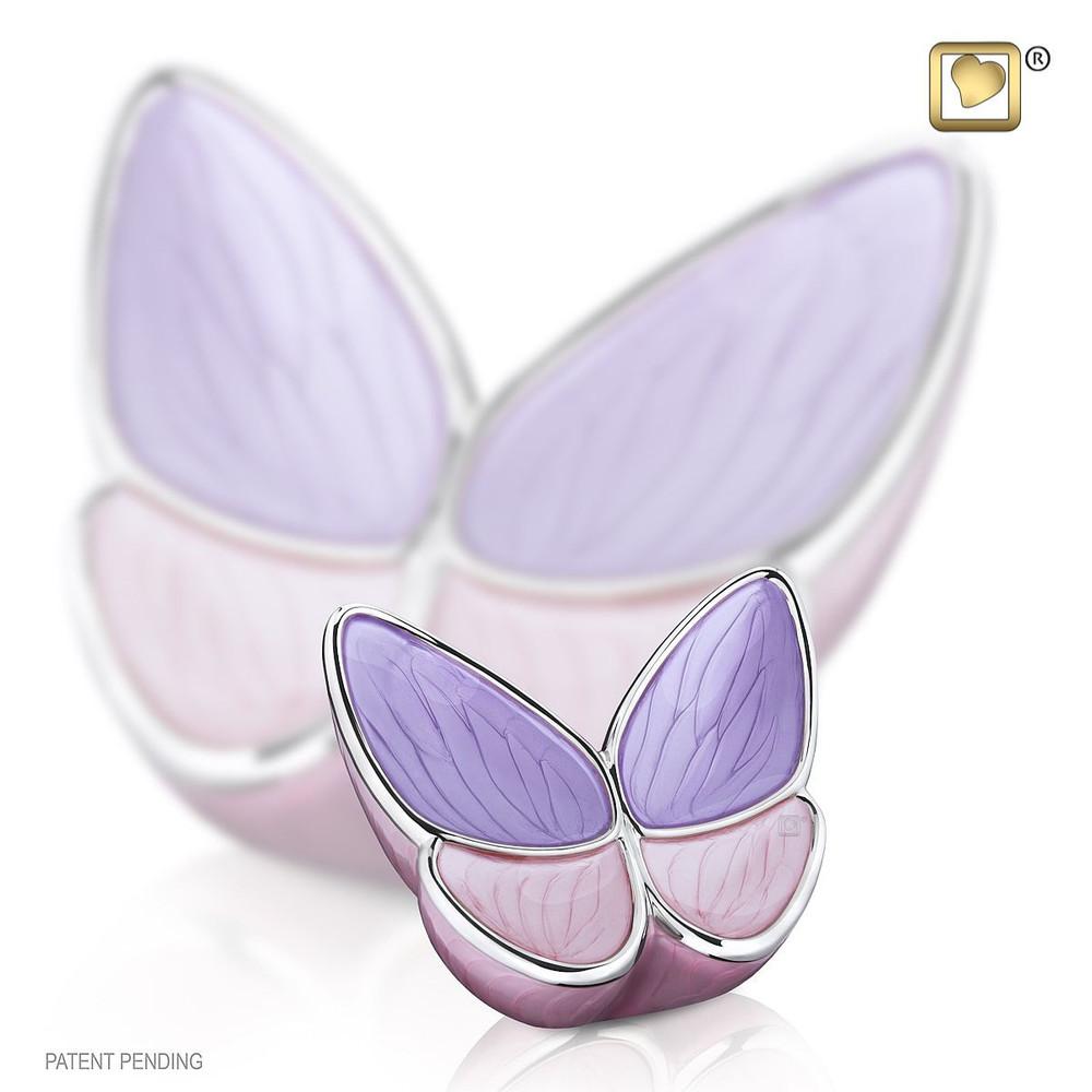 Keepsake Butterfly Cremation Urn in Lavender