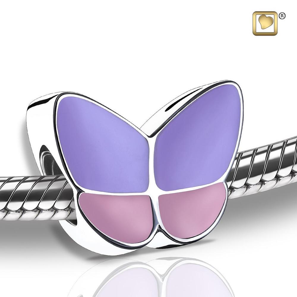 Butterfly Cremation Urn Bracelet in Lavender - Bead