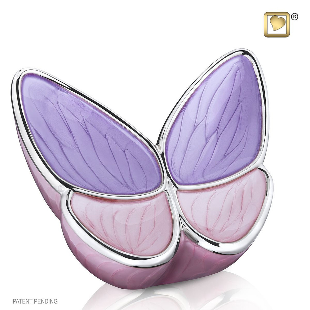 Adult Butterfly Cremation Urn in Lavender