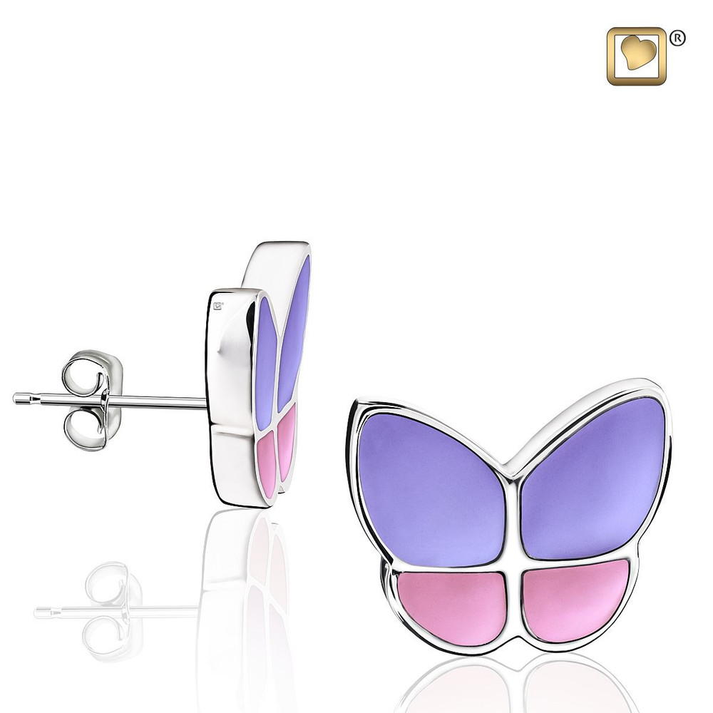 Butterfly Memorial Earrings in Lavender - These do not hold remains
