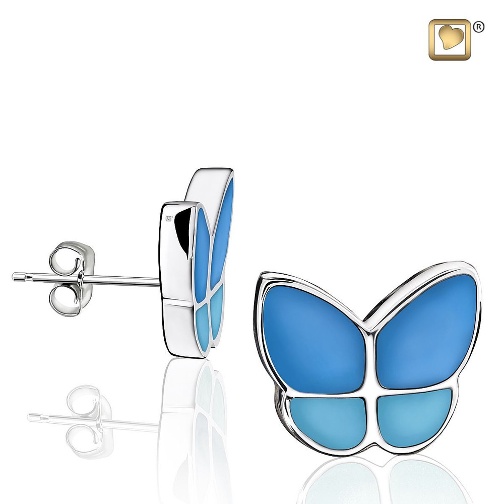 Butterfly Memorial Earrings in Blue - These do not hold remains