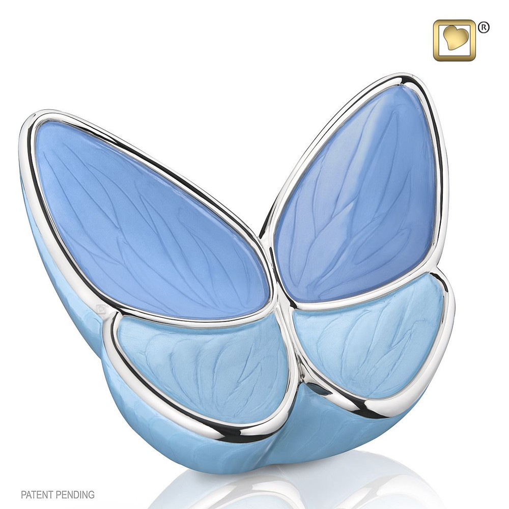 Adult Butterfly Cremation Urn in Blue