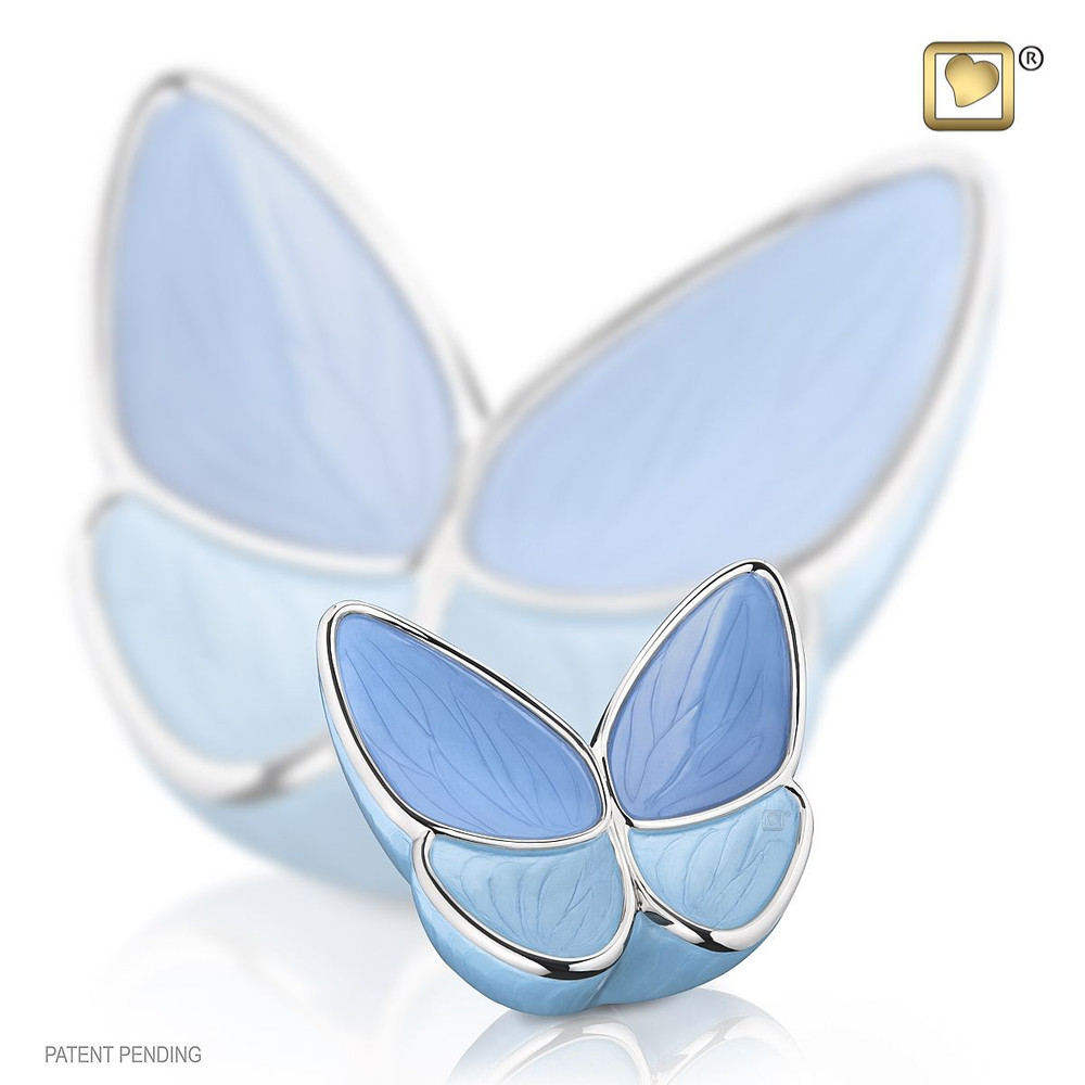 Keepsake Butterfly Cremation Urn in Blue