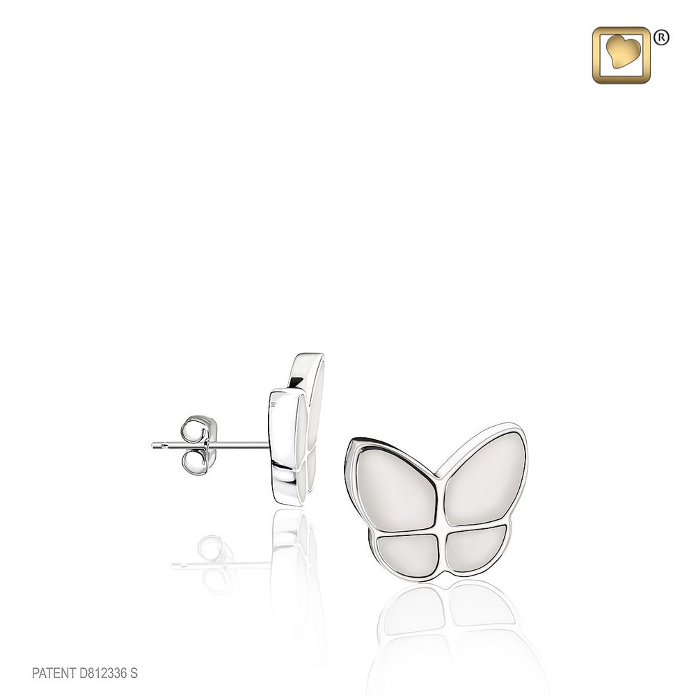 Butterfly Cremation Urn Bracelet in White - Designed to match