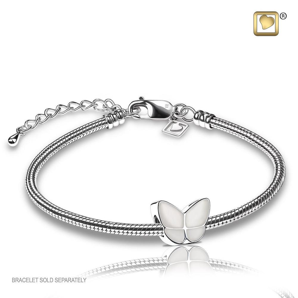 Butterfly Cremation Urn Bracelet in Blue - Includes bracelet chain