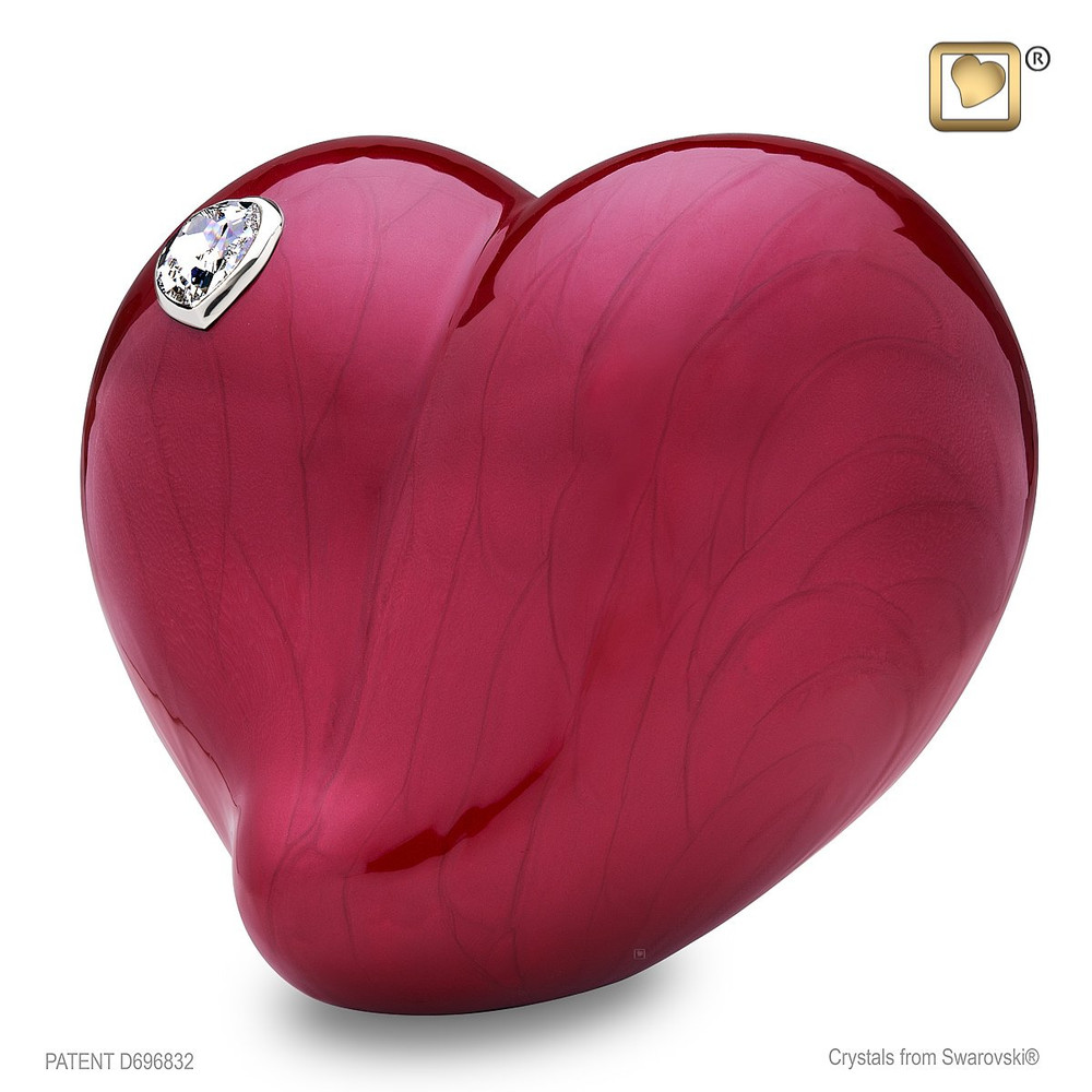 Loveheart - Heart-Shaped Metal Cremation Urn - Adult