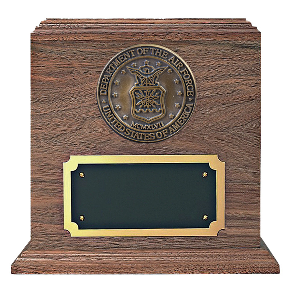 Air Force Medallion Walnut Military Urn