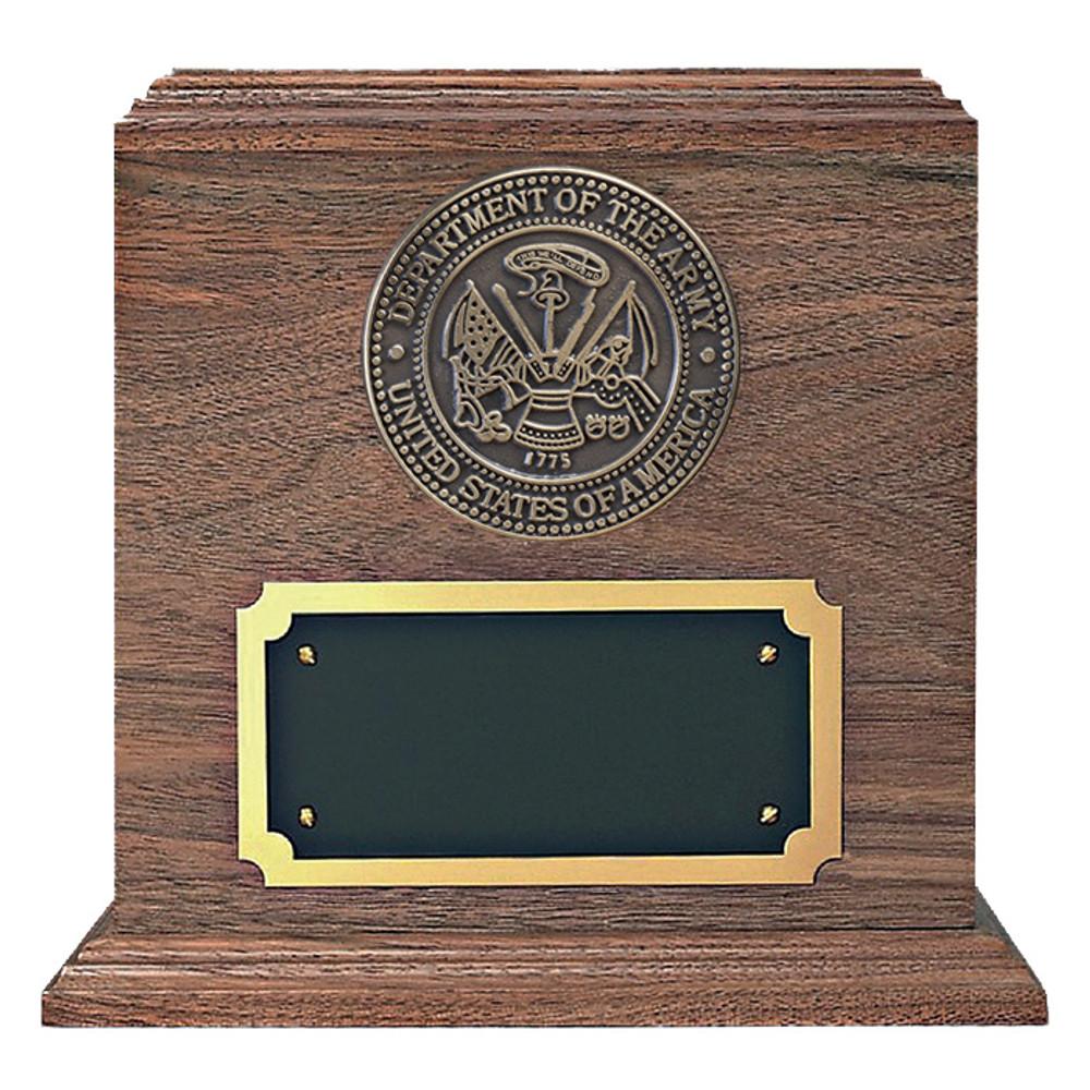 Army Medallion Walnut Military Urn