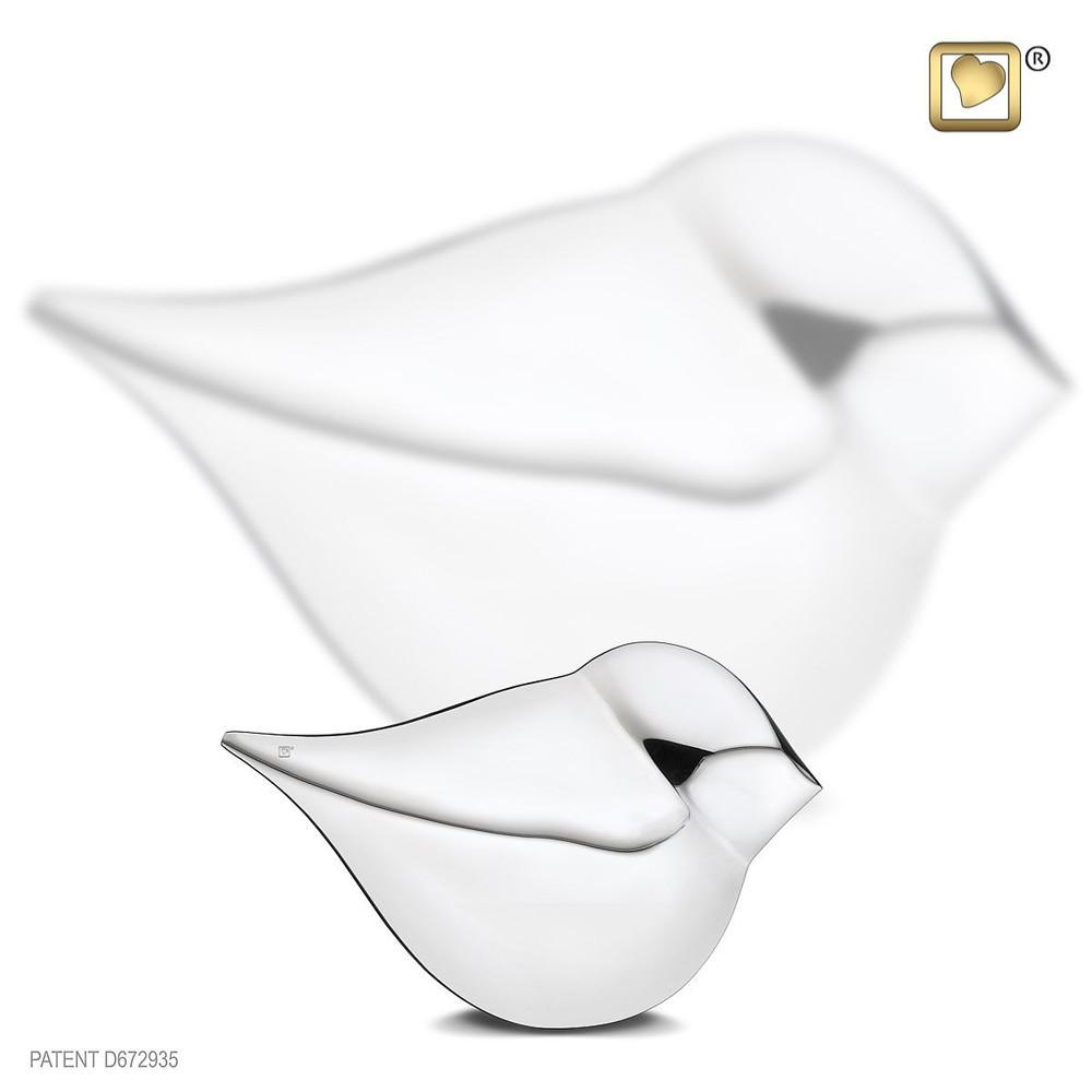 Soul Bird Brass Cremation Urn - Female - Keepsake
