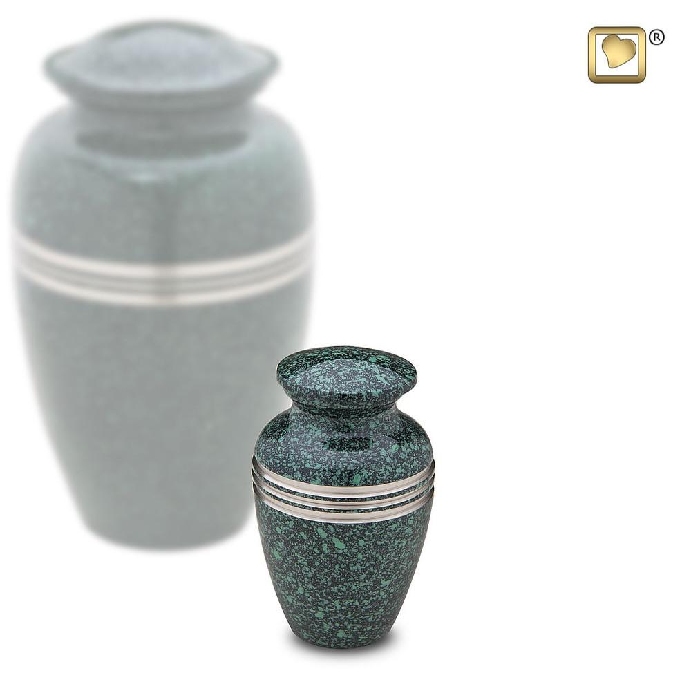 Emerald Green Metal Cremation Urns - Keepsake Urn
