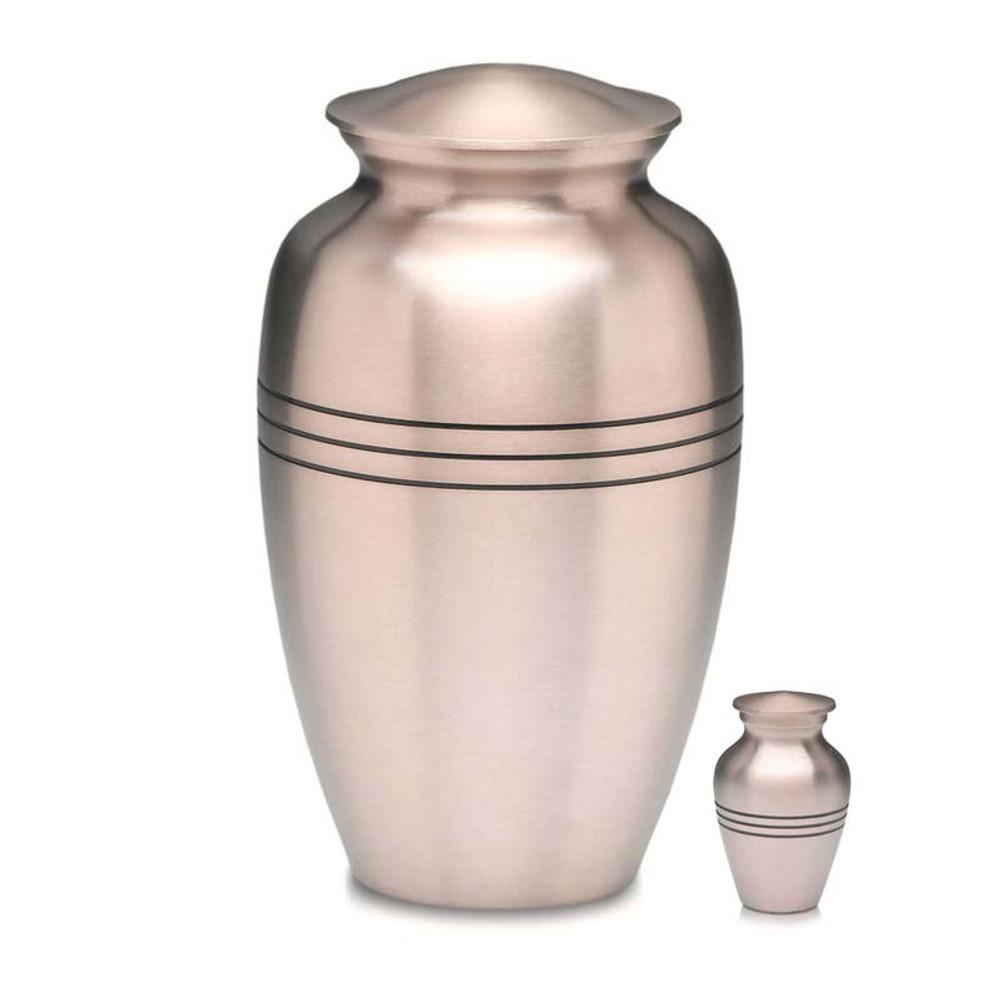 Adult Pewter Urn & Small Keepsake Urn