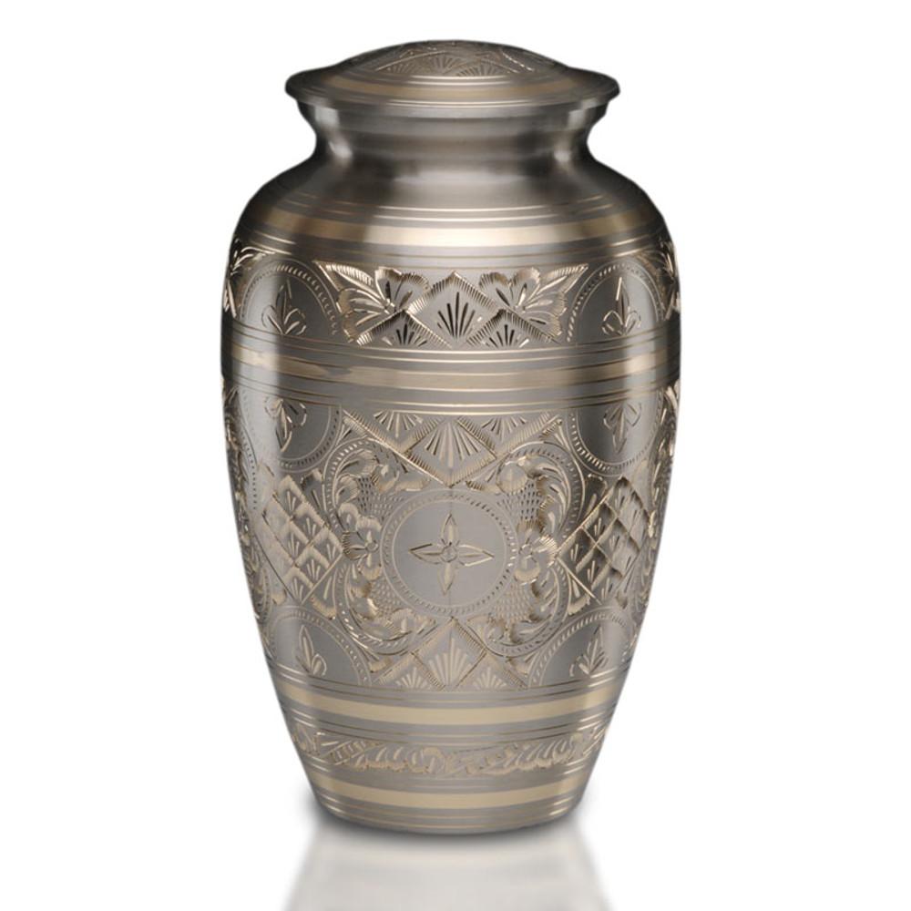 Sylvan Brass Cremation Urn in Platinum & Gold