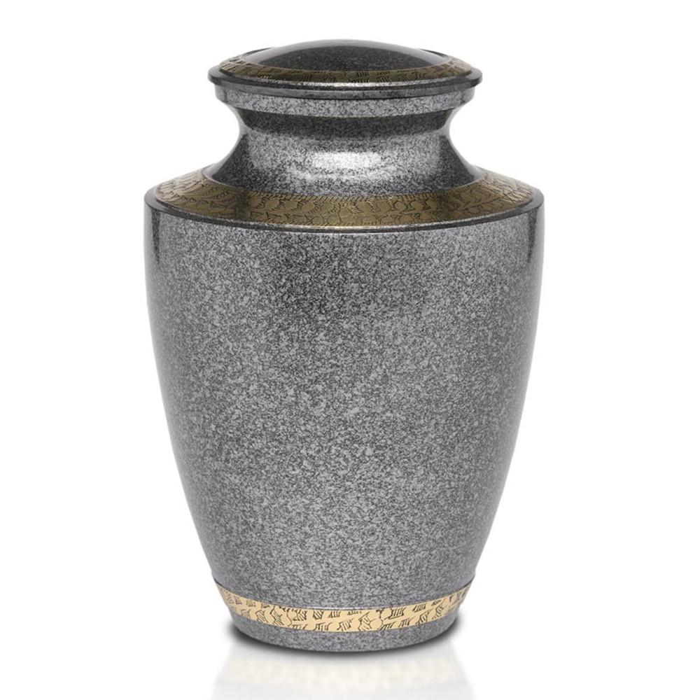Speckled Black Brass Cremation Urn